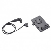 A/B V-Mount Battery Bracket with P-Tap to 3-pin XLR cable