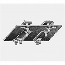 "Flat Adapter Bracket for IFF rail systems to ""I"" beams"