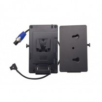 V-Mount Battery Plate with Quick Release Fitting DC Cable D-tap to NL2FX 50cm