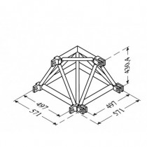 Angle 2D Structure Alu 500 Triangulaire
