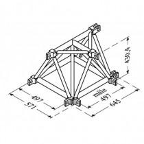 Angle 3D Mâle Structure Alu 500 Triangulaire