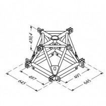Carré De Levage 4D Acier Structure Alu 500 Triangulaire