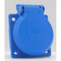 Embase  Femelle NF 16A bleue IP54 16A