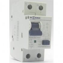 Disjoncteur PH/N 16A 30mA Type A courbe C - Icc 6kA (EN60898)