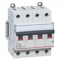 Disjoncteur 4X63A courbe C - Icc 6kA (EN60898)
