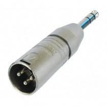 Adaptateur  XLR3M/jack mâle stéréo NA3MP