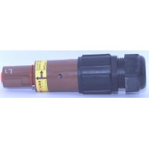 Fiche  drain mâle  600A marron 240mm_