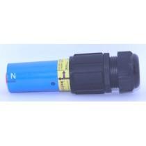 Fiche  source femelle 600A bleue 240mm_