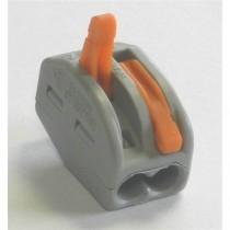 Borne  2 circuits (0.2 à 4mm2) . Pour câble souple ou rigide