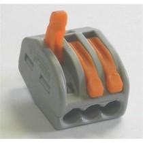 Borne 3 circuits (0.2 à 4mm2) - Pour câble souple ou rigide
