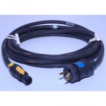 Prolongateur  2P+T 10A NF mâle /Powercon True one femelle 10m