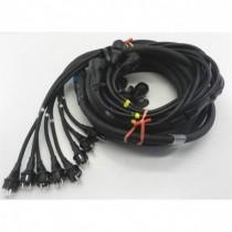 Cable 8 circuits 18G2.5  Epanoui mâle/ femelle cordons moulés 10m