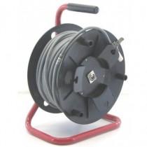 Touret câble DMX512 GRIS XLR3 50m