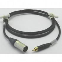 Câble modulation XLR3M/Cinch mâle 1m