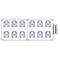 12 socles 16A NF  Embae H16 mâle 4 pivots