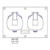 2 socles  maréchal DS1 2P+T 16A - 1PG16