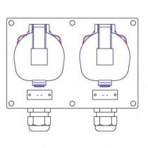 2 socles maréchal DS3 3P+N+T 32A - 2 PG21