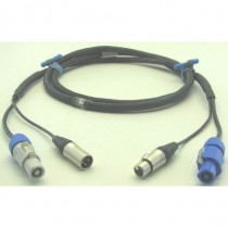 DMX POWER powercon + XLR3 15m