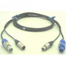 DMX POWER powercon + XLR5 15m