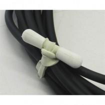 Lot de 100 attaches câble petit modèle blanc 70mm