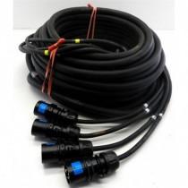 Cable Epanoui/Epanoui 4 circuits 12G2.5 Fiches CEE17 10m