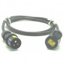 Prolongateur 2P+T 16A  C17 110V jaune  20m
