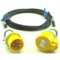 Prolongateur jaune 3P+T 10A  CEE17 5m