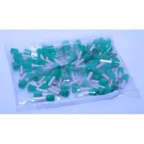 Sachet de 100 embouts de câblage  6mm2 vert