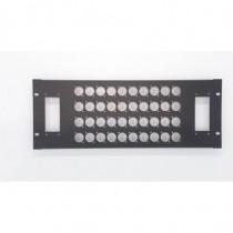 Face avant 19 pouces - 4U - pour 40 XLR série D + 2 H40/ 72 - MECATES