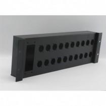 Patch rackable 19 pouces 3U pour 20 XLR série D et 1 H40/72 - MECATES