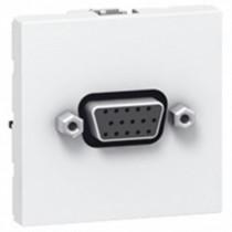 Prise HD15 femelle bornier à vis  2 modules - 78757