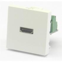 Plastron 45 embase HDMI femelle bornier à visser