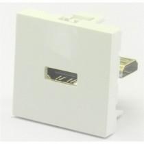 Plastron 45 traverse HDMI femelle / femelle